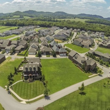 Aerial of Homes